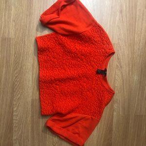 Red orange crop top